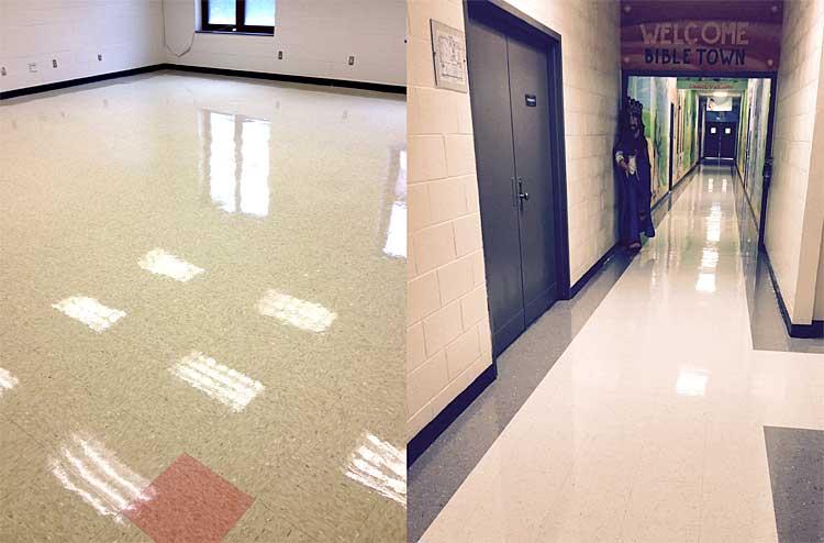photo-vinyl floor cleaning